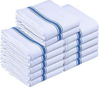 Utopia Towels Kitchen Towels 12 Pack, 15 x 25 Inches Cotton Dish Towels, Tea Towels and Bar Towels, Blue