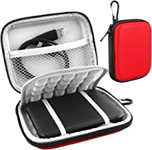 Lacdo EVA Shockproof Carrying Case for Western Digital My Passport Studio Ultra Slim Essential WD Elements SE Portable External Hard Drive 1TB 2TB 3TB 4TB 5TB USB 3.0 2.5 inch HDD Travel Bag, Red