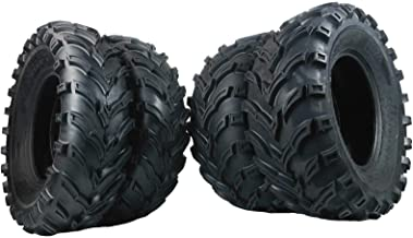 Set of 4 New ATV/UTV Tires 2 of 25x8-12 Front and 2 of 25x10-12 Rear /6PR P377
