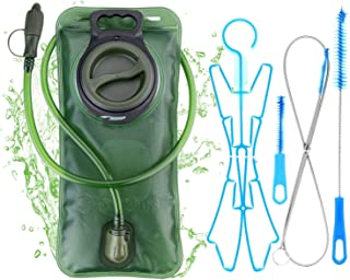 WADEO Hydration Bladder 2 Liter Leak Proof Water Reservoir 2L with Hydration Pack Cleaning Kit Tube Insulator Bite Valve C...
