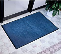 """product image for Apache Mills Plush Tuff Olefin Mat - 3"""" x 8"""" Dimensions: 36"""" W x 96"""" D Weight: 17 lbs Blue"""