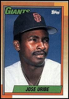 Baseball MLB 1990 Topps #472 Jose Uribe Giants