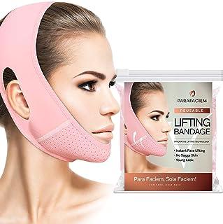 ParaFaciem Reusable V Line Mask Facial Slimming Strap Double Chin Reducer Chin Up Mask Face Lifting Belt V Shaped Slimming...