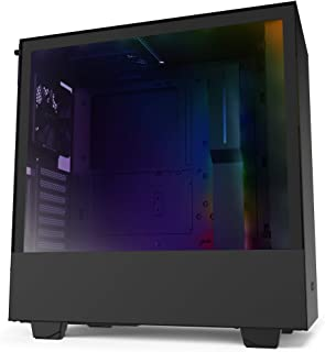 NZXT H510I Caja PC Gaming Semitorre Compacta ATX Panel Frontal E/ S Puerto USB de Tipo C Montaje Vertical de la GPU Panel Lateral de Cristal Templado Iluminación RGB Integrada, Negro