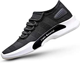ROCKFIELD Men' S Mesh Black/Grey Running Sports Walking Casual Sneakers Shoes