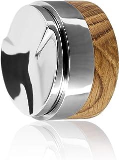 Clara Coffee Distributor Für Perfekte Extraktion Des Espressos | Kaffeeverteiler In 58mm | Für Espresso in Barista Qualität | Qualität aus Edelstahl und Holz | Holz: Eiche