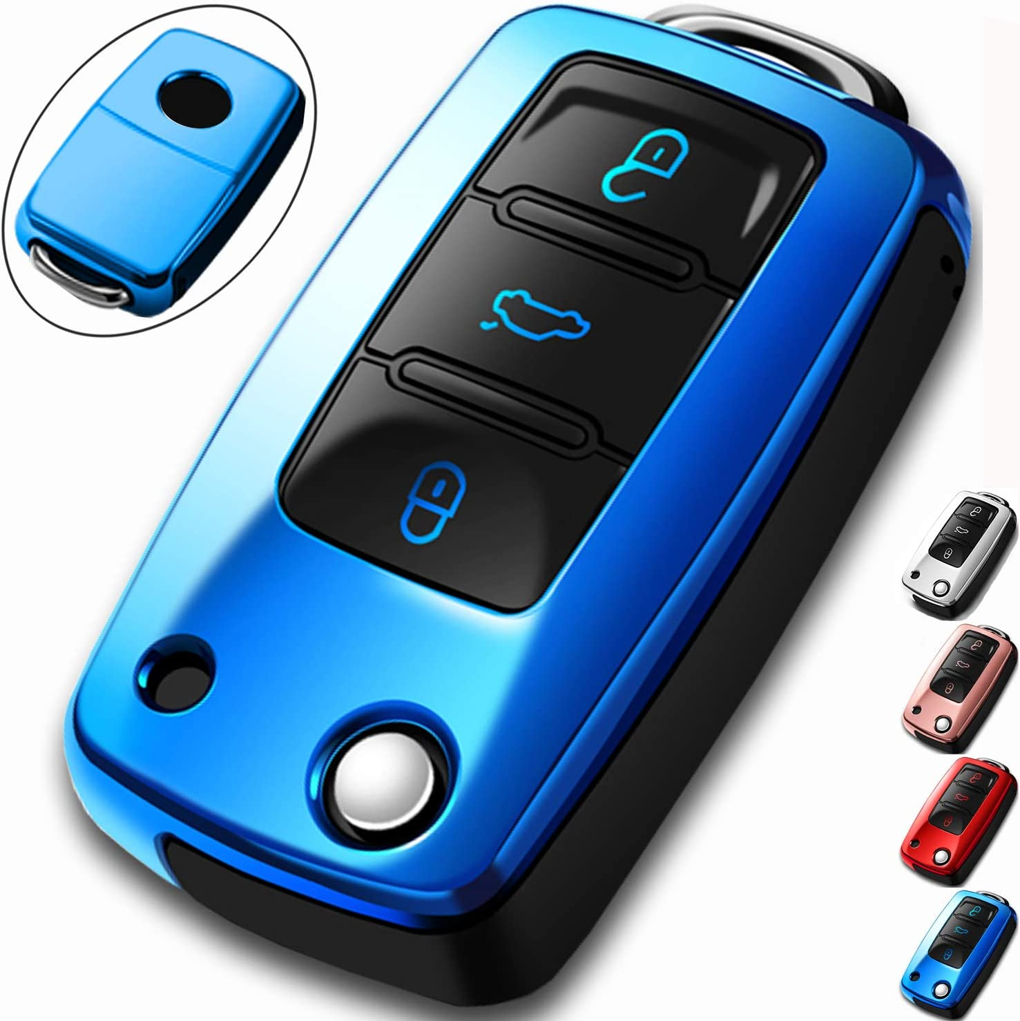 COMPONALL for VW Key Fob T Compatible Passat Beetle Recommended Cover Popular products