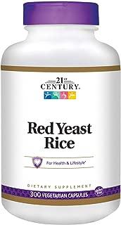 21st Century Red Yeast Rice Extract Veg Capsules, 300 Count