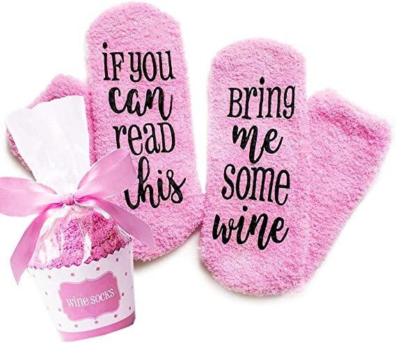 Valentines Day Gifts Wine Socks With Funny Words If You Can Read This