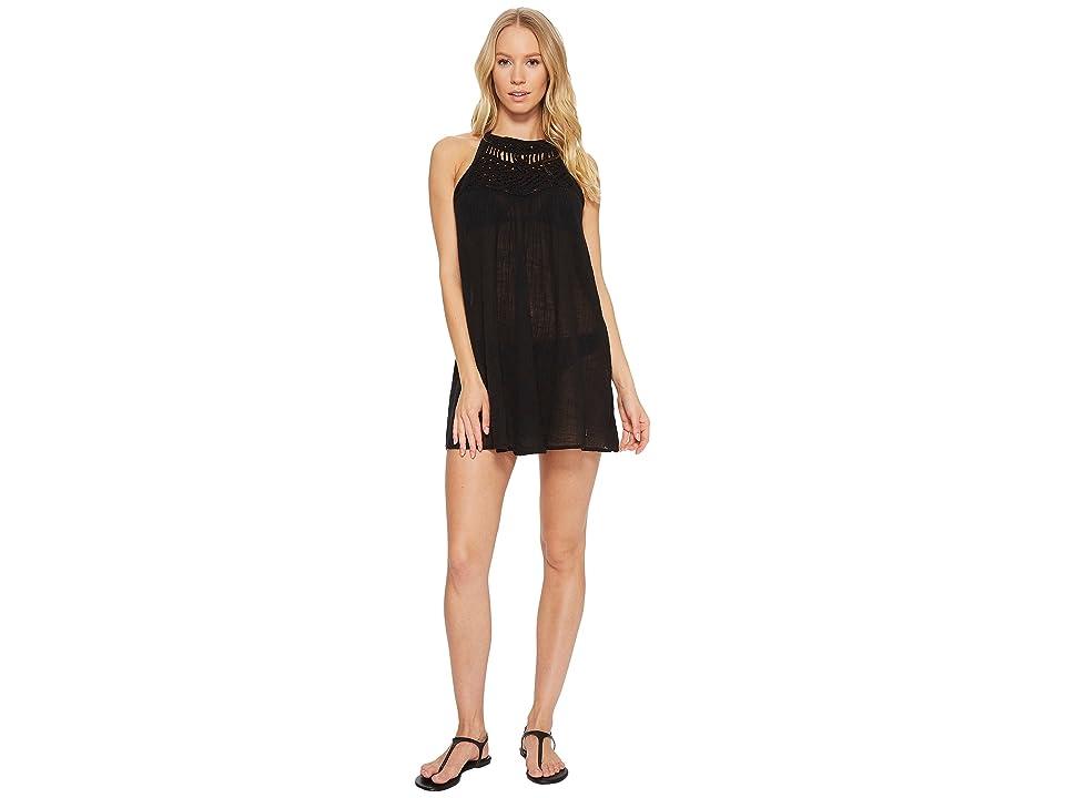 Polo Ralph Lauren Macrame Dress Cover-Up (Black) Women