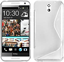 Cadorabo Case Works with HTC Desire 610 Ultra Slim TPU Silicone Cover (Design S) - Shockproof Scratch Resistant Gel Case Protective Shell Bumper Skin Back Cover SEMI TRANSPARENT DE-101548