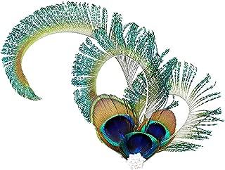 ACTLATI Fashion Charming Peacock Eye Vintage Feather Rhinestone Headband Bride Bridesmaid Hair Clip Hair Pin