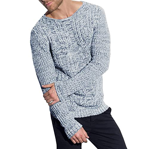 8bc556cb739a Eastlife Mens Sweaters Crew Neck Long Sleeve Slim Fit Knitted Pullover  Casual Sweater