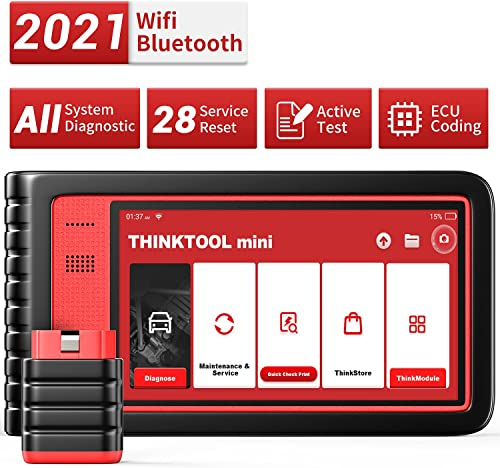 high quality Thinktool Mini All System Diagnostic Scanner for All Cars with lowest 28 Service Reset Functions,Scan Tool with Bi-Directional Test and ECU Coding (Optional), Car Scanner with ABS popular Bleeding/Oil Light Service sale