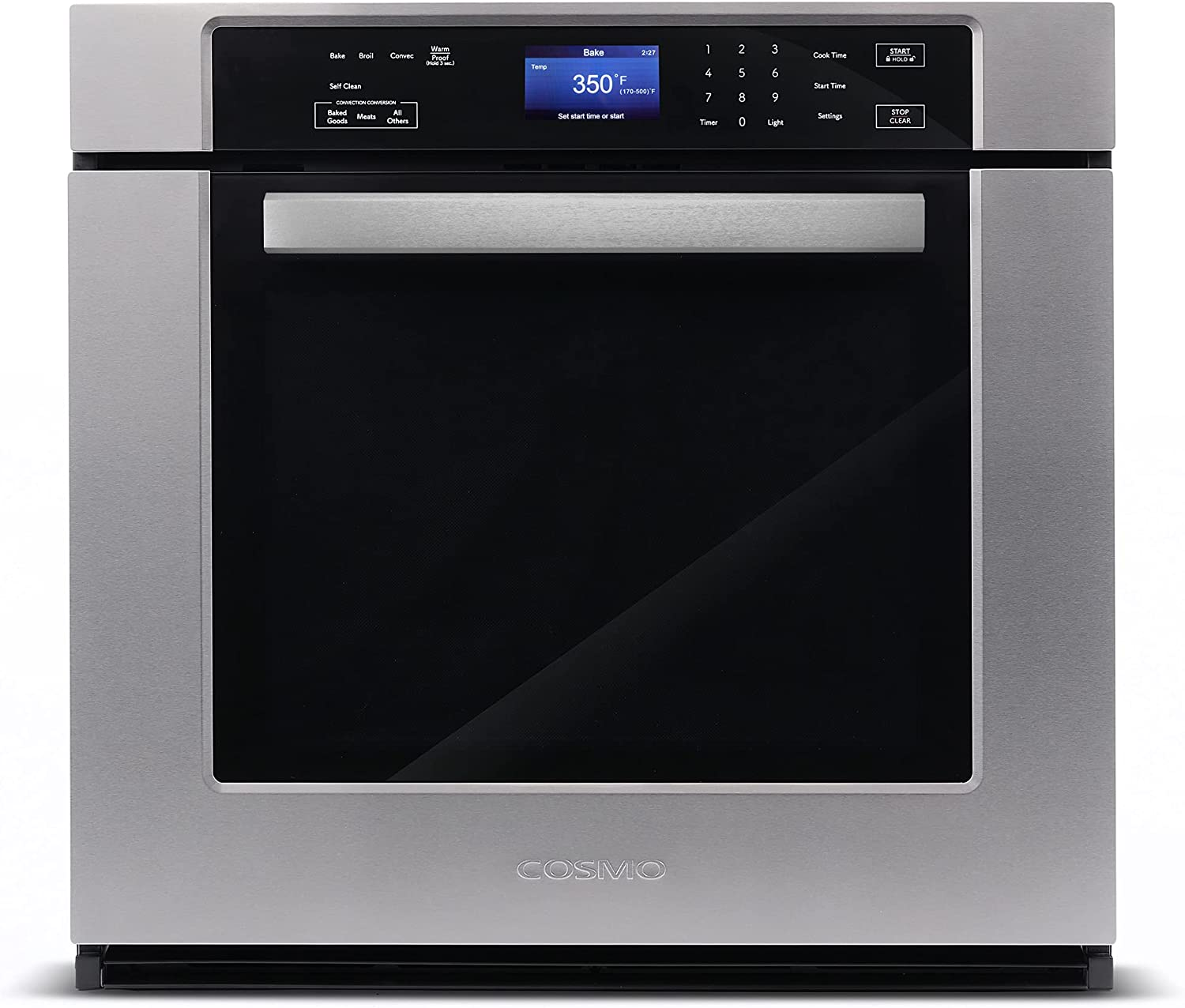 Cosmo COS-30ESWC Tulsa Mall 30 in. Electric Single Oven Max 41% OFF 5 Wall with cu. ft.