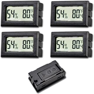 4-Pack Recessed Digital Electronic Hygrometer Meter,Temperature and Humidity Gauge Indoor LCD Display Fahrenheit for Green...