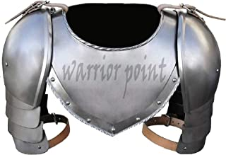 warrior point Medieval Iron Gorget Spaulders Arm Shoulder Set Viking Crusader Pauldrons Armor