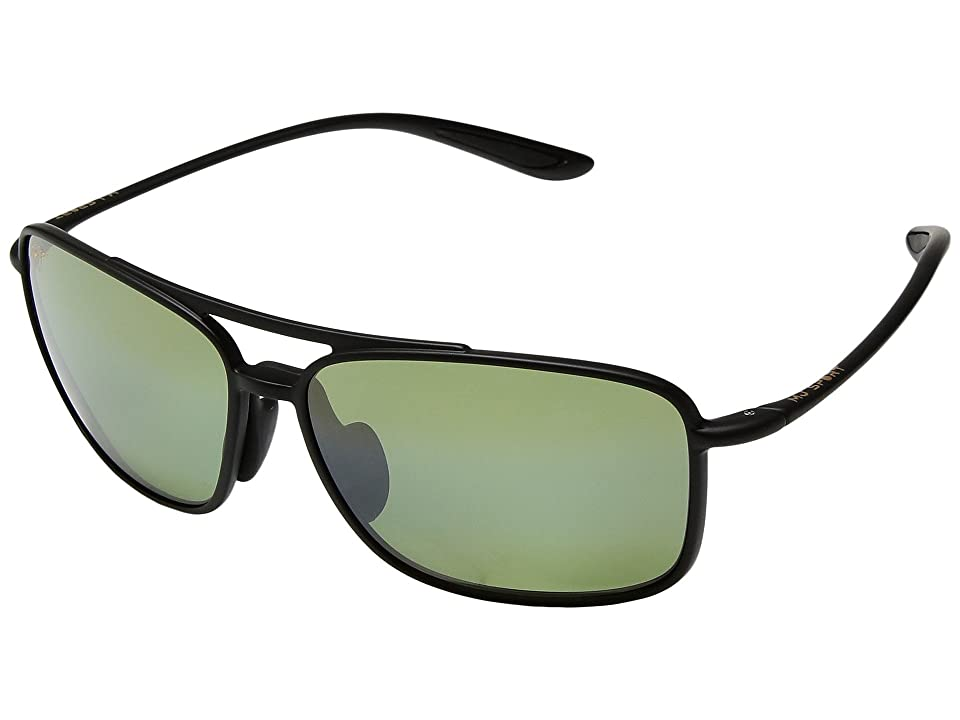 Maui Jim Kaupo Gap (Matte Black/Maui HT) Athletic Performance Sport Sunglasses