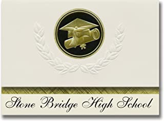 Signature Announcements Stone Bridge High School (Ashburn, VA) Graduation Announcements, Presidential style, Elite package...