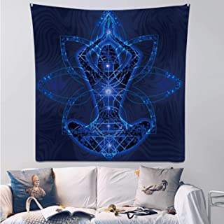 Hitecera Relaxation Meditation Trance Goa,Tapestry Wall Hanging Chakra Wall Art for Bedroom 39.3X39.3Inch