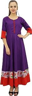 Bimba Women's Anarkali Custom Kurta Kurti 3/4 Sleeve Indian Blouse