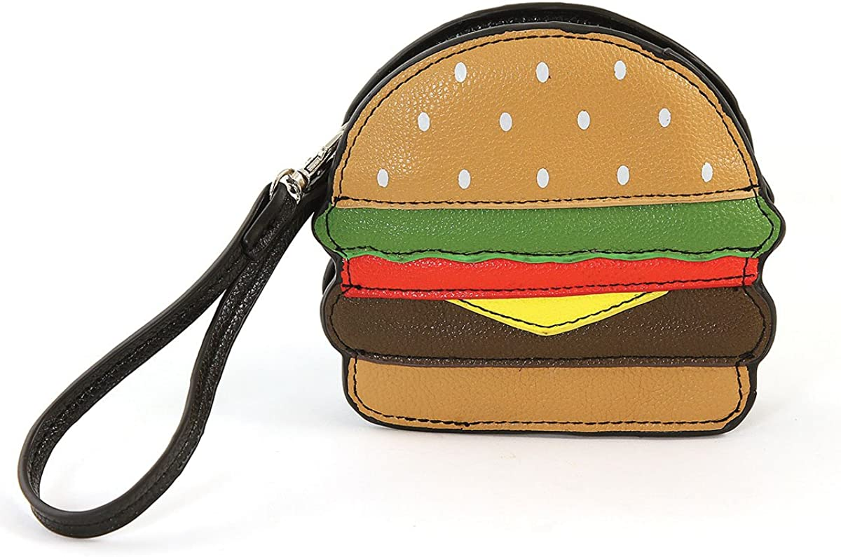 Sleepyville Critters-Hamburger lowest price Max 58% OFF Zippered Coin Purse