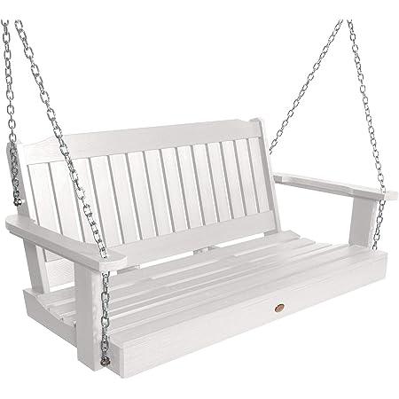 Amazon Com Highwood Ad Porl2 Whe Lehigh Porch Swing 4 Feet White Garden Outdoor