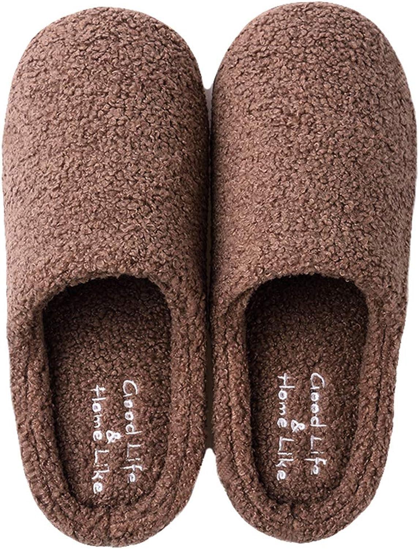 Share Maison Unisex Women's Men's Autumn Winter Warm Cozy Furry Slippers Memory Foam shoes Indoor Home Clog