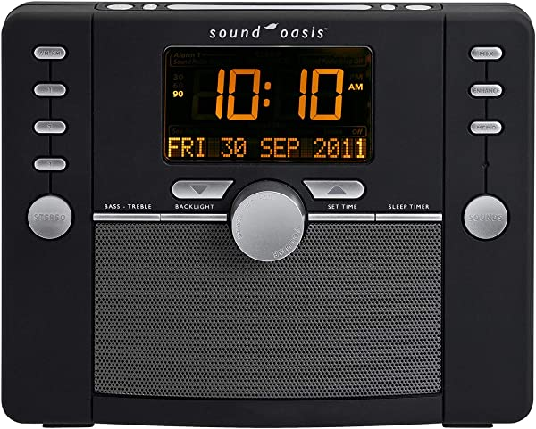 Sound Oasis S 5000 Deluxe Sleep Sound Therapy System Black