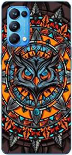 Shopezzz Bazaar Angry Owl 3D Printed Hard Mobile Back Cover Case for Oppo Reno 5 Pro