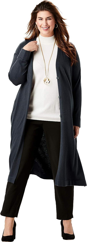 Jessica London Women's Plus Size Fine Gauge Duster Sweater