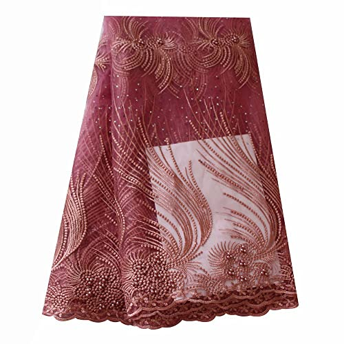Arts,crafts & Sewing Lace Hard-Working 2018 Purple Gold Nigerian Wedding African Lace Fabric For Wedding Dresses/ French Lace Fabric With Beads Party Wedding Dress