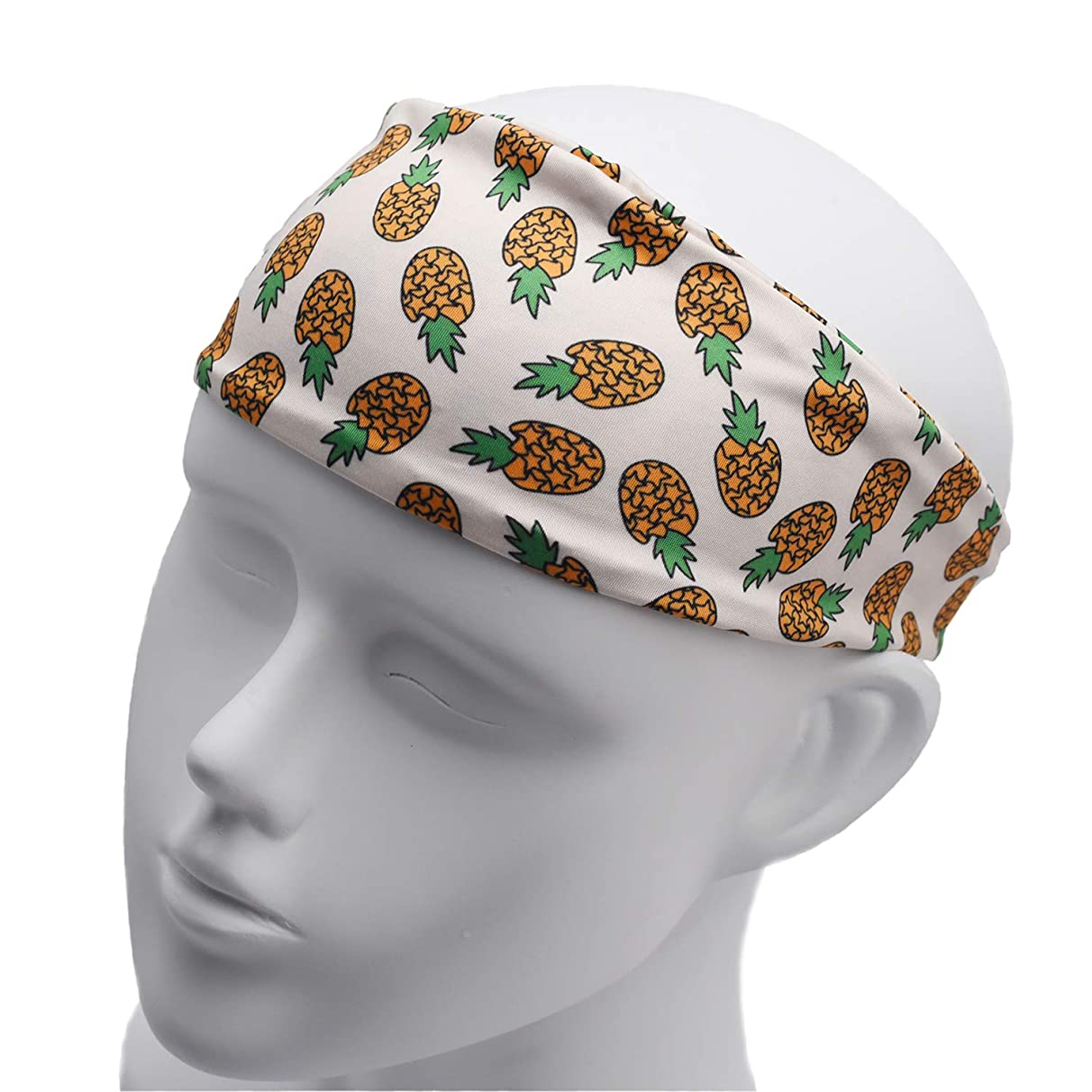 LParkin Pineapple Banana Watermelon Funny Head Bands for Adults - Wide Headbands - Gift for Wife - Adult Headband - Headband Women - Hair Headband - Best Headbands