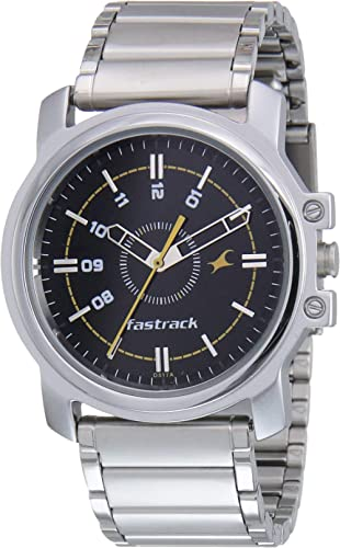 Fastrack Economy Analog Black Dial Men's Watch NM3039SM02 / NL3039SM02
