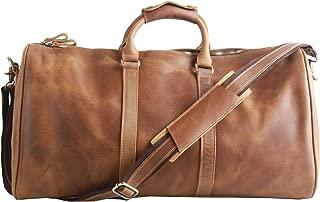 brown holdall bag