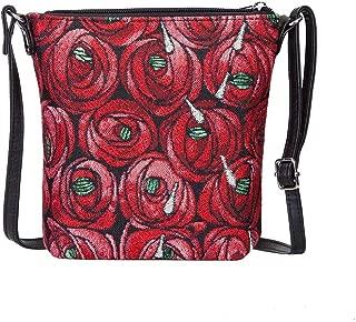 Charles Rennie Mackintosh Rose and Teardrop Art Nouveau Small Cross Body Bag for Women/Sling Crossbody bag by Signare/SLING-RMTD