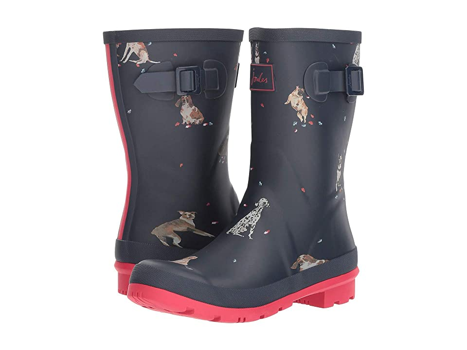 Joules Mid Molly Welly (French Navy Dogs In Leaves) Women