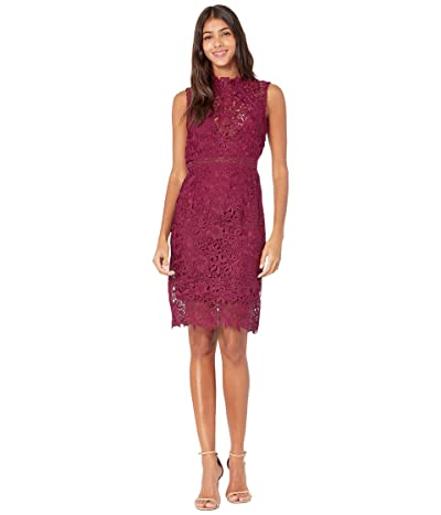 Bardot Eleni Lace Dress (Burgundy) Women