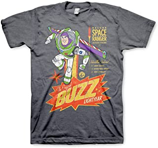 TOY STORY Officially Licensed The Original Buzz Lightyear Mens T-Shirt (Dark-Heather)