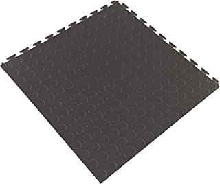 IncStores Coin Flex Nitro Multi-Purpose Basement Garage Kitchen Flooring Tiles (Dark Grey)