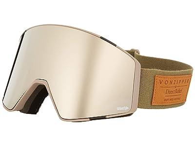 VonZipper Capsule Goggle (Clay Satin/Wild Silver Chrome Lens) Goggles