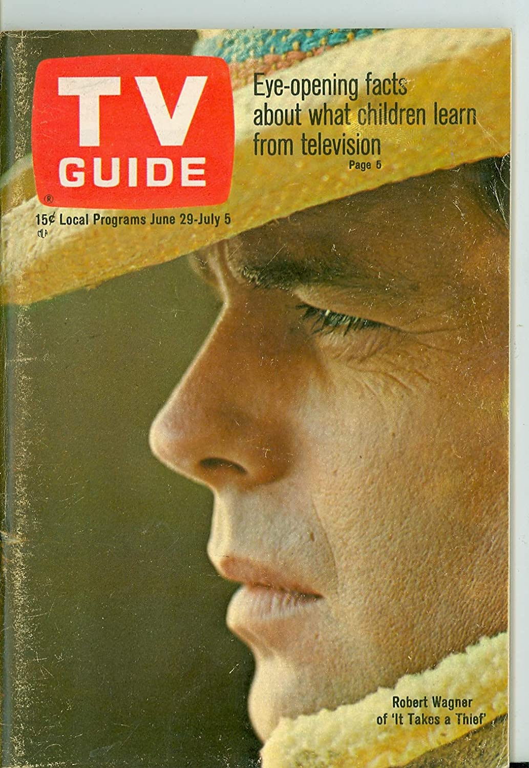 1968 Clearance SALE! Limited time! TV Guide Jun 29 Robert Wagner - of Takes Thief a Tulsa Mall it Colorad