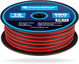 InstallGear 12 Gauge Speaker Wire (100-feet - Red/Black)