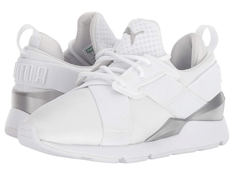 Puma Kids Muse (Little Kid) (Puma White/Puma White) Girl