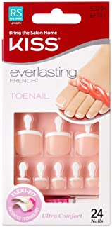 Kiss Products Everlasting French Toenail Limitless Kit, 0.07 Pound by Kiss Products