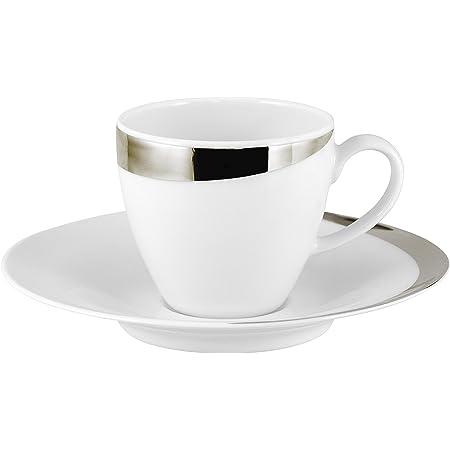 porcelaine tasses de café tasses monogramme Tasse Blanc Tasses Support 6tlg