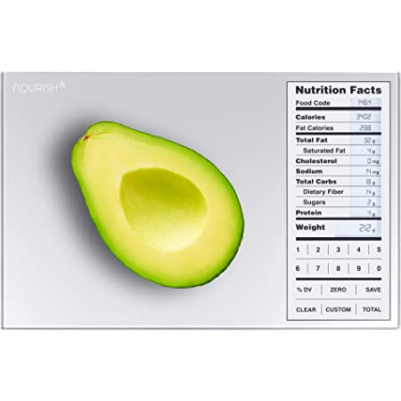 Greater Goods Nutrition Food Scale, Perfect for Weighing Nutritional Meals, Calculating Food Facts, and Portioning Snacks, Designed in St. Louis.