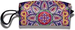 Bohemian Indian Mandala Multifunction Portable Makeup Bag Sewing Kit Medicine Bag Cosmetic Bag for Home Office Travel Camping Outdoor