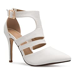 ce74e97d8 OLIVIA K Women s Ankle Strap Pointy Toe D Orsay Stilleto Mid .