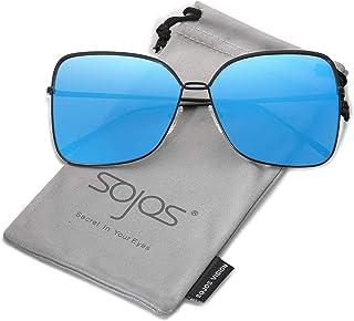 SOJOS Fashion Oversized Square Sunglasses for Women Flat...